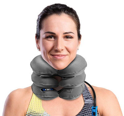 1. Branfit Cervical Collar Brace Adjustable Inflatable Neck Traction Device