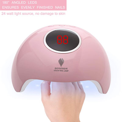 9. GOYAESQUE 24W UV LED Nail Lamp