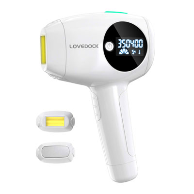 10. LOVE DOCK Body and Face Laser Hair Removal with Cooling Functions