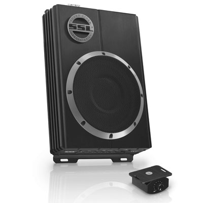 8. Sound Storm 10 Inch Amplified Car Subwoofer (LOPRO10)