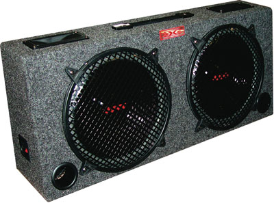 "9. Audiopipe New! XXX 2 10"" Car Audio Subwoofer Box 5"" Tweeters"