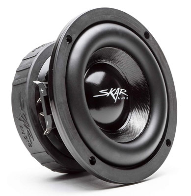 "7. Skar Audio 6.5"" Dual 2 Ohm Car Subwoofer (EVL-65 D2)"