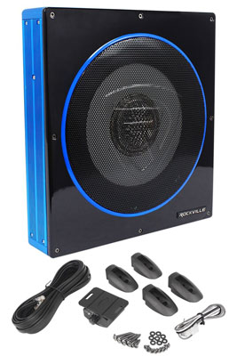 "3. Rockville RW10CA 10"" 800 Watt Active Powered Car Subwoofer Sub"