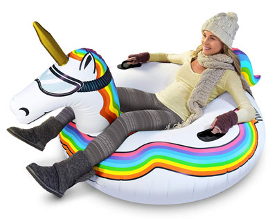 2. GoFloats Inflatable Snow Tube for Kids and Adults