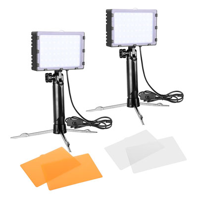 5. Emart 60 LED Continuous Portable Photography Lighting Kit – 2 Packs