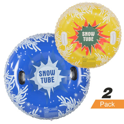 7. HIWENA Inflatable Snow Tubes for Family (2 Pack)