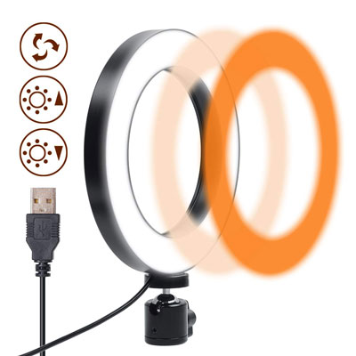 4. Gemwon 6 Inches Ring Light