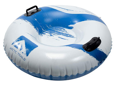 3. Franklin Sports Inflatable Snow Sled – Snow Tube (Arctic Trails)