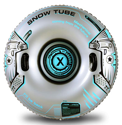 8. XFlated Heavy Duty Inflatable Snow Tube Sled