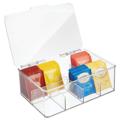 3. mDesign Single Serve Pouch Organizer