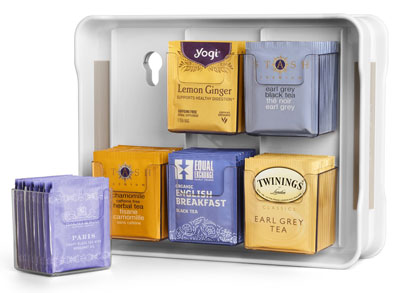 2. YouCopia 06121-31-WHT Tea Bag Organizer