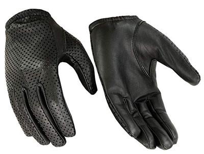 8. Hugger Breathable Full-Finger Touchscreen Leather Gloves