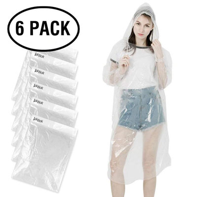 10. KKTICK Rain Poncho Disposable