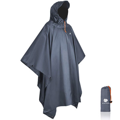 4. Anyoo Waterproof Rain Poncho