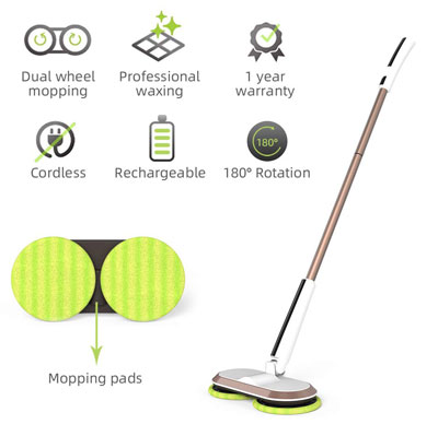 8. GOBOT Cordless Electric Mop