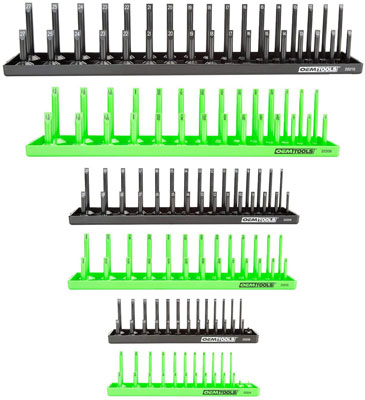 4. OEMTOOLS 22233 6 Piece Socket Tray Set
