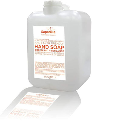 5. Sapadilla Biodegradable Liquid Hand Soap Pump
