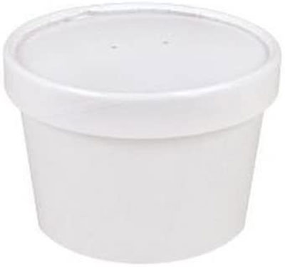 7. Sweet Bliss Cup Containers, 25CT, White