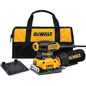 4. DEWALT DWE6411K Palm Sander, 1/4 Sheet
