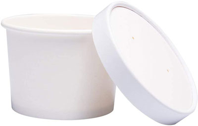 6. Benail Paper Ice Cream Cups with Paper Lids