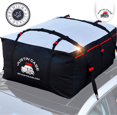 9. JUSTINCASE Heavy Duty Waterproof Car Top Carrier