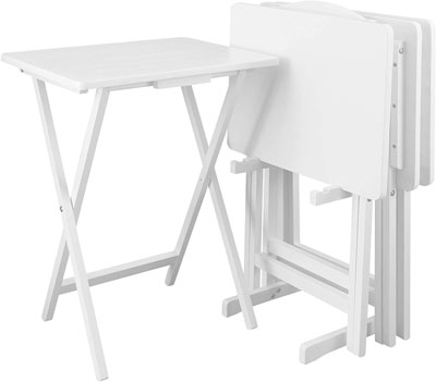 9. Casual Home 5pcs Set-White Tray Table