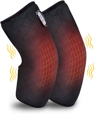 3. Comfer Heated Knee Brace Wrap with Heating Pad