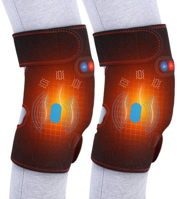 1. Yosoo Health Gear Heated Massage Knee Brace