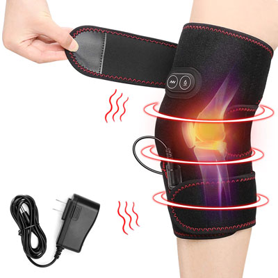 7. PKSTONE Massaging and heating Knee Pad