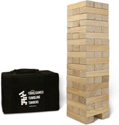 7. Yard Games Giant Tumbling Timbers