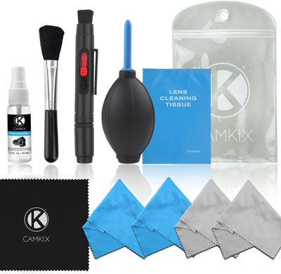 1. CamKix Professional Camera Cleaning Kit for DSLR Cameras
