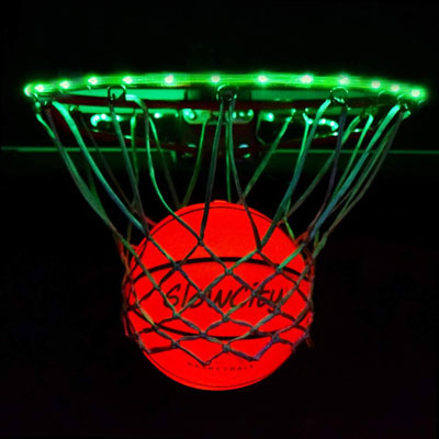 10. GlowCity Light Up LED Rim Kit with LED Basketball Included