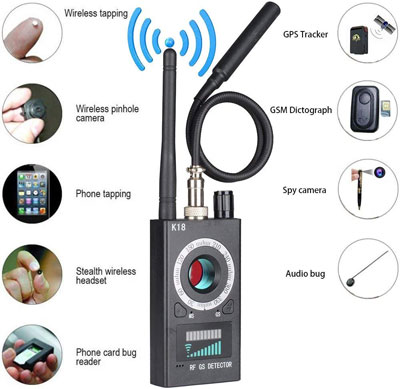 1. Anti Spy RF Detector Wireless Bug Detector Signal
