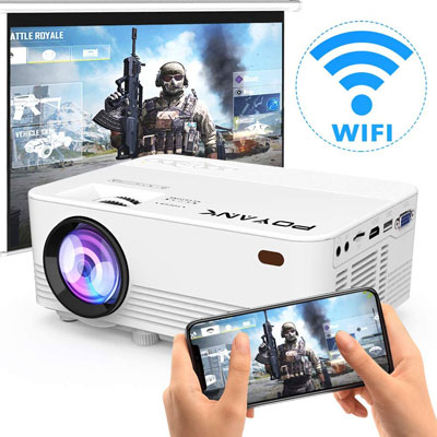 4. POYANK 4500Lux LED WiFi Projector [Native 720P]