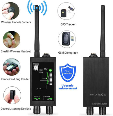 6. biznlink GPS Spy Monitor Detector for Hidden Camera