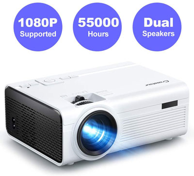 6. Crosstour LED Video Projector Supporting 1080P