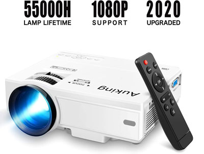 2. Auking Portable Video-Projector Mini Projector