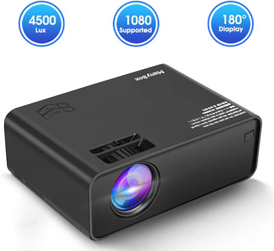 10. ManyBox 4500 LUX Portable Video Projector