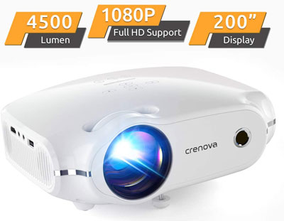 8. Crenova 1080P Full HD Portable Phone Projector
