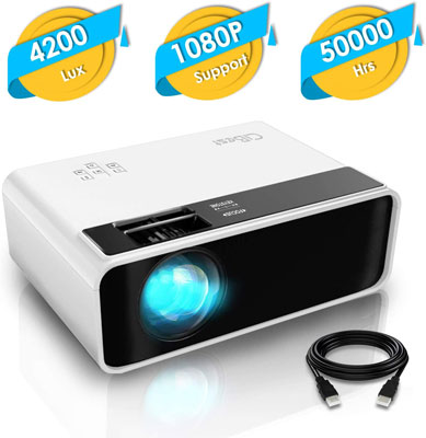 7. CiBest 4200lux Video Mini Projector