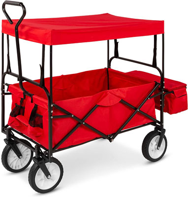 3. Best Choice Products Utility Cargo Wagon Cart for Beach