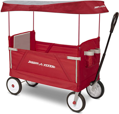 4. Radio Flyer 3-In-1 EZ Folding Outdoor Wagon for Kids & Cargo