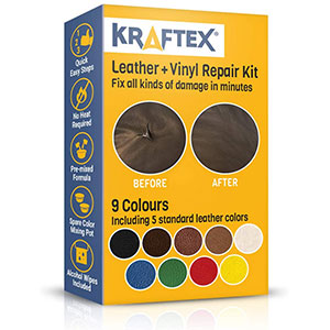 5. Kraftex Leather and Vinyl Repair Kit with 5 Leather Shades