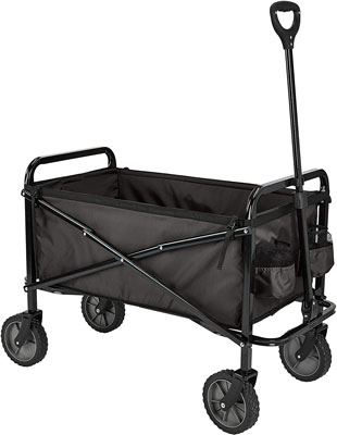 6. AmazonBasics Folding Outdoor Utility Wagon with Cover