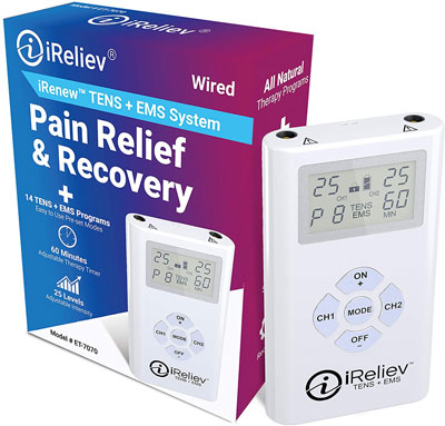 6. iReliev TENS + EMS Combination Unit Muscle Stimulator