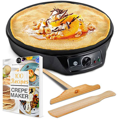 "5. G&M 12"" Crepe Maker Machine Pancake Griddle"