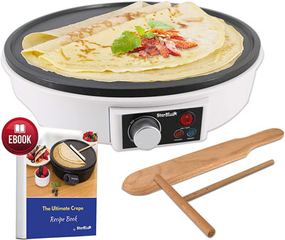 "7. StarBlue 12"" Electric Crepe Maker with FREE Recipes e-book"
