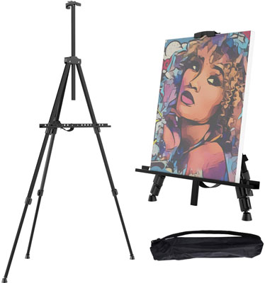 "6. Gotideal 66"" Artist Easel Stand with Carrying Bag"